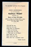 KATHLEEN WANT   GENT 1957   1957 - Décès