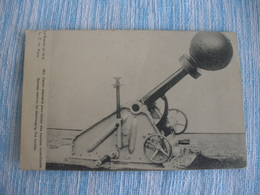 WW1 CPA CANON ALLEMAND LANCER BOMBES INCENDIAIRES - Guerre 1914-18