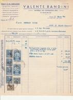 Fattura Da V. BANDINI Firenze Costruzioni A Ospedale Civile Pieve Di Soligo 1944 - Italia
