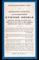 ETIENNE KEGELS  TEMSE  1919  3 MAAND OUD - Décès
