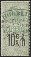Timbre Fiscal 1891 - Affiches  N°  14  - 10c & 2/10   - Oblitéré  Angoulème - Fiscale Zegels