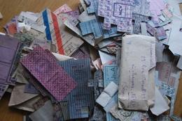 Rationnement - Très Gros Lot Tickets Pain Denrees Diverses Carte De Priorite Charbon, Tabac - Historische Documenten