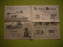 Catalogue Pub Et Tarifs Illustré Batteuses Mayfarth à Paris Usines à Francfort 12 Pages - Publicités