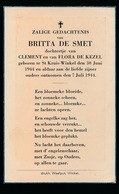 BRITTA DE SMET  ST.KRUIS WINKEL  1944  1944 - Décès