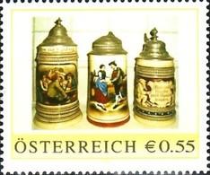 Bierkrüge Mit Zinndeckel, Pers.BM, Bogennummer 8006724 - Österreich