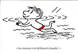 Thèmes. Autres. Secours Populaire Vacances Goscinny Sempe. Les Vacances C'est Drôlement Chouette & Vacances 2014 - Cartes Postales