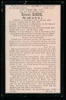 PASTOOR DESTELBERGEN  ERNEST SOENS  ASPELAERE 1867  DESTELBERGEN 1918 - Décès