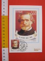 A.09 ITALIA ANNULLO - 2001 VERONA GIUSEPPE VERDI  VERONAFIL MUSICA MUSIC MAXIMUM - Musica