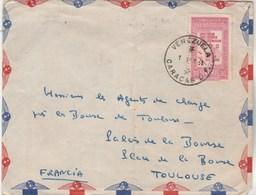 Vénézuela Lettre Avion De CARACAS 1951 Pour Toulouse Haute Garonne France - Venezuela