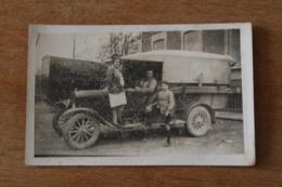 Carte Photo  Camion Baché  Vers 1920 - Coches