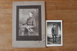 2 Photos Officier Anglais  1915 Dont Une Prise à Rouen - 1914-18