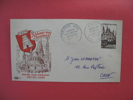 FDC 1951   Abbaye Aux Hommes  -  Cachet  Abbaye Aux Hommes De Caen - Caen      à Voir - FDC