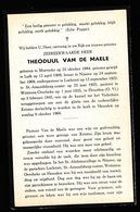 PASTOOR WETTEREN OVERBEKE - THEODUUL VAN DE MAELE  MOERZEKE 1884 - HEUSDEN 1945 - Décès