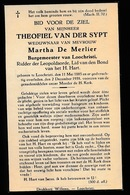 BURGEMEESTER LOCHRISTI  THEOFIEL VAN DER SYPT - LOCHRISTI 1885   1938 - Décès