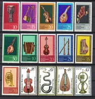 DDR Between 1971 - 1979, Musical Instruments Musikinstrumenten Geige Violin Flute Flöte **, MNH - Musik