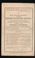 BURGEMEESTER BELSELE - EDUARD ROGMAN  BELCELE 1820  1891 - Décès