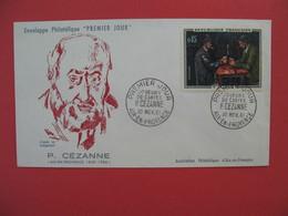 FDC 1961   P. Cezanne  -  Cachet   Joueurs De Cartes P. Cezanne   Aix-en-Provence    à Voir - 1960-1969