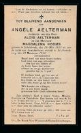 ANGELE AELTERMAN  SCHELDERODE  1923   ST.AMANDSBERG 1933 - Décès