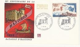 FDC  France Env. 1er Jour - FOS06 - IX Centenaire De La Bataille D'Hastings - 14 Falaise 4.06.66 - Timbre 1486 - FDC