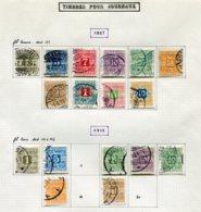 11298  DANEMARK  Collection Vendue Par Page  ° Timbres Pour Journaux  1907-15      TB - Danemark