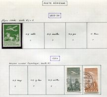 11299  DANEMARK  Collection Vendue Par Page  °/* Poste Aérienne  1925-34      TB - Danemark