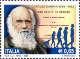 ITALIA REPUBBLICA ITALY REPUBLIC 2009 CHARLES DARWIN MNH - 6. 1946-.. Repubblica