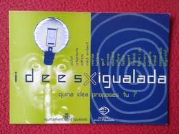TARJETA TIPO POSTAL POST CARD CARTE POSTALE PUBLICITARIA ADVERTISING LIGHTBULB BOMBILLA LAMPE AMPOULE LUZ LIGHT BULB VER - Publicidad