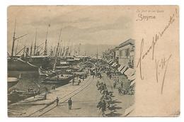 OLD POSTCARD OF SMYRNE , LE PORT ET LES QUAIS , 1902 . - Turkije
