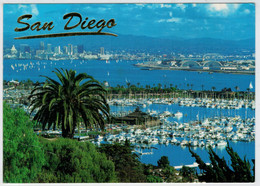 VIEW  OF SAN DIEGO  FROM  POINT  LAMA  ACROSS SHELTER ISLAND               (VIAGGIATA) - San Diego