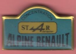 RARE PIN'S CONCENTRATION ALPINE RENAULT STAR CLUB AQUITAIN Voiture Car - Renault