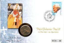 """(Bu-FDC) Polen Numisbrief BM Mi 4175 """"Tod Von Papst Joh. Paul II"""" SSt 8.4.2005 Münze 2Zl.""""Tod Von Papst Joh. Paul II"""" - Pologne"""