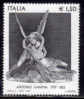 ITALIA REPUBBLICA ITALY REPUBLIC 2007 ANTONIO CANOVA AMORE E PSICHE MUSEO DEL LOUVRE DI PARIGI MNH - 6. 1946-.. Repubblica