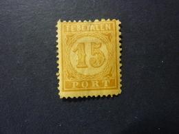 INDES NEERLANDAISES, TIMBRE TAXE, Année 1874, YT N° 4 Neuf, Petit Spot Aminci, (cote 15 EUR) - Indes Néerlandaises
