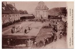 Salins Les Bains : Intérieur Du Fort Saint André (Collection Mourthaux - Phot. Combier, Macon) - Autres Communes