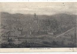 AIX-EN-PROVENCE EN 1481 . CARTE ECRITE AU VERSO LE 3 JANV 1919 - Aix En Provence