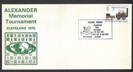 Chess, England Cleveland, 18-09-1975, Special Final Day Cancel & Cachet, Alexander Memorial Tournament - Schaken