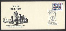 Chess, England Norwich, 09.05.1979 Special Cancel & Cachet, 75th Anniversary British Chess Federation - Schaken