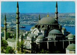 """ISTAMBUL   SULEYMANIYE   CAMIL VE  HALIC      SULEYMANIYE MOSQUE AND """"GOLDEN HORN""""                  (VIAGGIATA) - Turchia"""