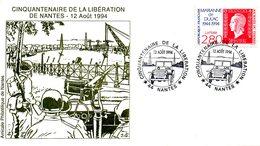 FRANCE. Enveloppe Commémorative De 1994. Libération De Nantes/Jeep. - Seconda Guerra Mondiale