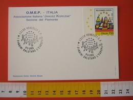 A.09 ITALIA ANNULLO - 1993 VERCELLI I BAMBINI SALUTANO EUROPA KORCZAK INFANZIA - Europa-CEPT
