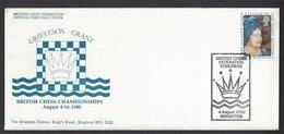 Chess, England Brighton, 04.08.1980 Special Cancel & Cachet, British Chess Championship - Schaken