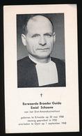 BROEDER GUIDO SCHOONE - ERTVELDE 1908  GENT 1968 - Décès
