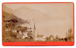 SUISSE - WEGGIS : PHOTO Albuminée, Contrecollée Sur Carton Fort, Fin 19 ème Siècle, Très Bon état. - Old (before 1900)