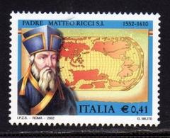 ITALIA REPUBBLICA ITALY REPUBLIC 2002 PADRE MATTEO RICCI MNH - 6. 1946-.. Repubblica