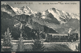 Suisse (BE) - Schynige Platte-Bahn - Eiger, Mönch, Jungfrau - Edit. Brienz N° 614 - Voir 2 Scans - Trains