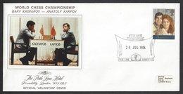 Chess, England London, 28.07.1986 Special Cancel & Cachet, World Chess Championship - Schaken