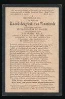 KAREL VLAMINCK  LOKEREN 1822 - 1894 - Décès