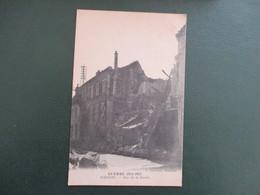 CPA WW1 GUERRE  1914- 1915 02 SOISSONS RUE DE LA BUERIE MAISONS BOMBARDEES - Guerre 1914-18