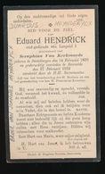 EDUARD HENDRICK  DESTELBERGEN 1839  BEERVELDE 1932 - Décès