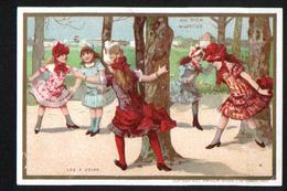 Chromo Au Bon Marche, 1885, VM29, 82x120mm, Dans Les Jardins Publics De Paris, Les Quatre Coins - Au Bon Marché